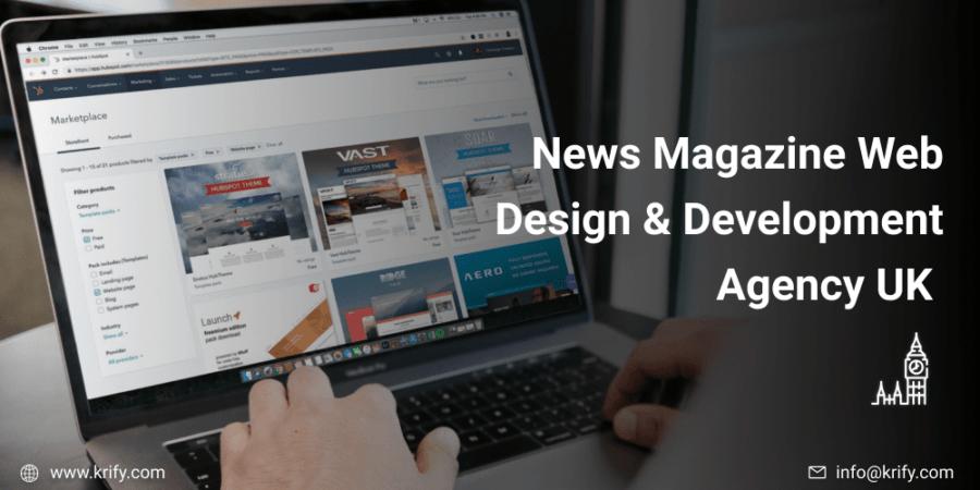 News Magazine Web Design & Development Agency UK