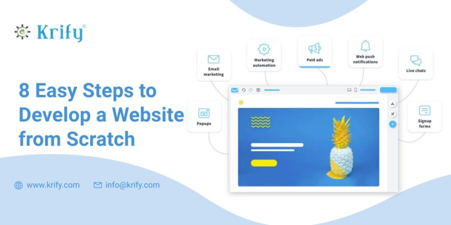 8 Easy Steps to Develop a Website from Scratch