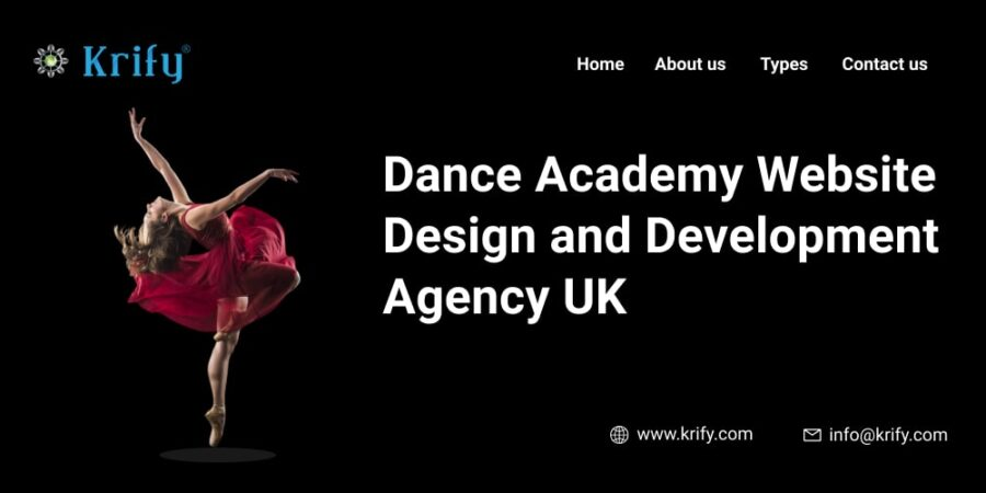 Dance Academy Website Design and Development Agency