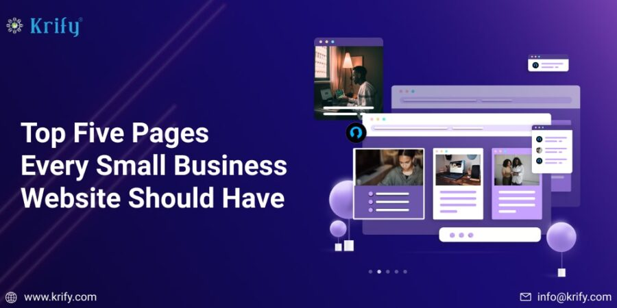 Top Five Pages Every Small Business Website Should Have